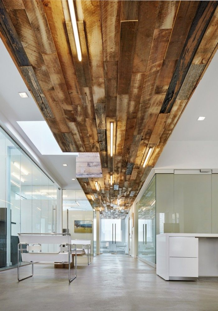 reclaimed wood office. Reclaimed Wood Ceiling Office U
